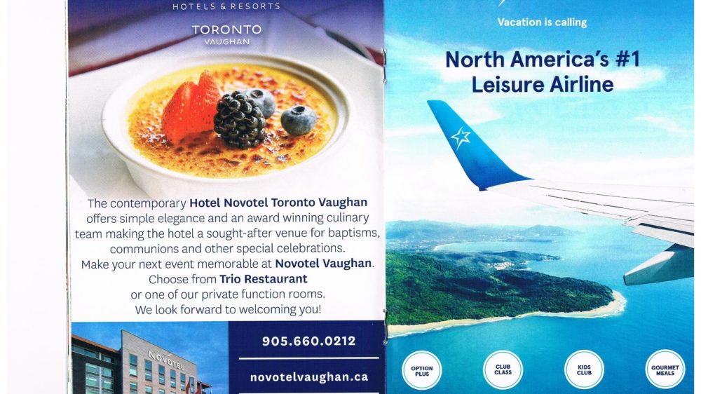 vaughan community guide Novotel Vaughan and Transat ad 2018